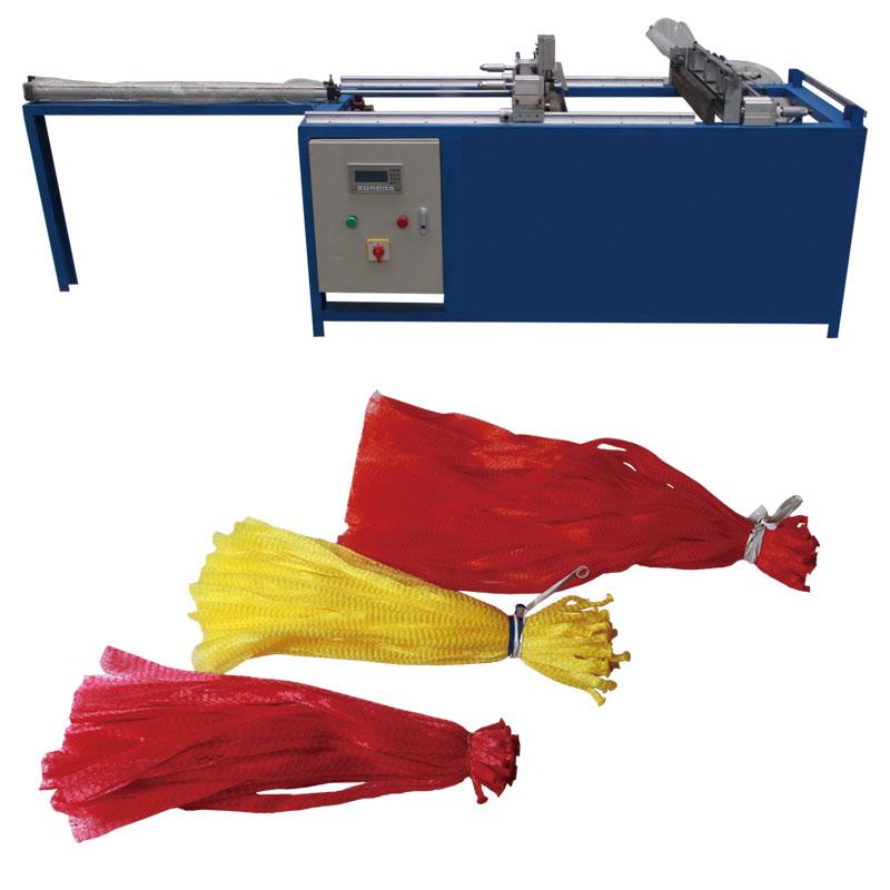 Flat bottom mesh bag making machine